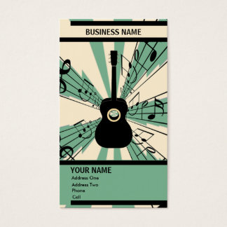 Guitar - Music Business Card