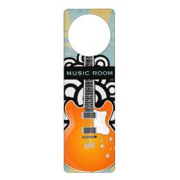 Guitar Music Design Door Hanger