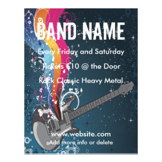 Guitar Music Flyer