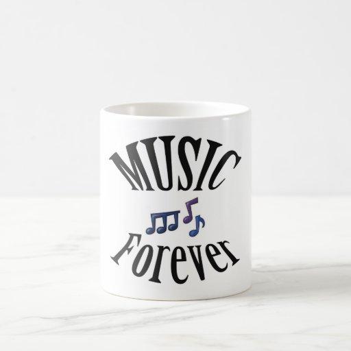 Guitar Music Forever Notes Coffee Mug