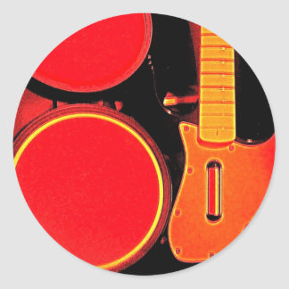 Guitar Music Gifts! Classic Round Sticker