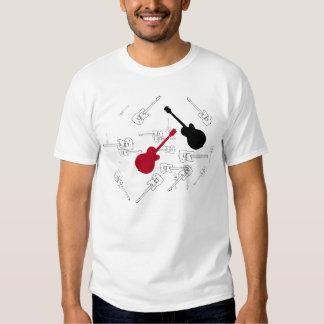 guitar music rock stamped tee shirt