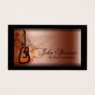 Guitar Music Teacher Brown Business Card