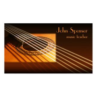 Guitar Music Tutor Business Card