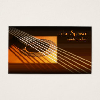 Guitar Music Tutor Business Card