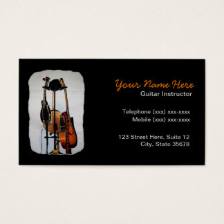 Guitar Musical Instrument Instructor Business Card