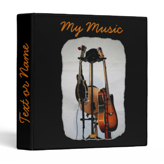 Guitar Musical Instruments 3-Ring Binder