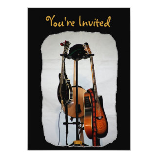 Guitar Musical Instruments Invitations