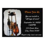 "Guitar Musical Instruments Recital Invitations 5"" X 7"" Invitation Card"
