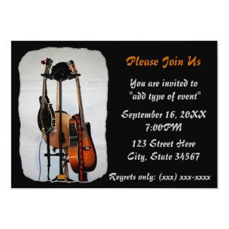 Guitar Musical Instruments Recital Invitations