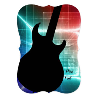 Guitar Musician card or invitation YOUR TEXT