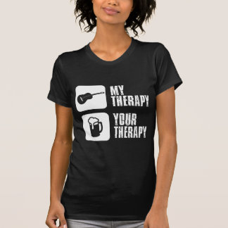 guitar  my therapy tee shirt