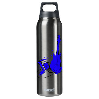 Guitar n amp stylized blue flat graphic SIGG thermo 0.5L insulated bottle