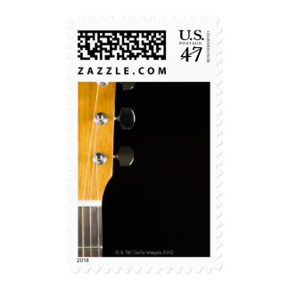 Guitar Neck and Head Postage Stamp