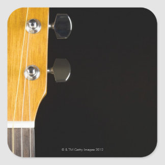 Guitar Neck and Head Square Stickers