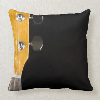 Guitar Neck and Head Throw Pillow