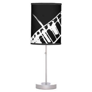 guitar neck stamp black and white desk lamp