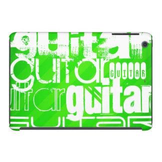 Guitar; Neon Green Stripes iPad Mini Retina Cover
