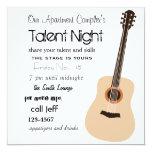 """Guitar Night 5.25"""" Square Invitation Card"""