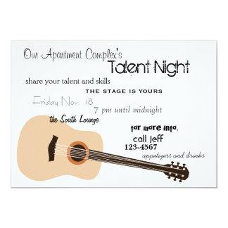 Guitar Night Card