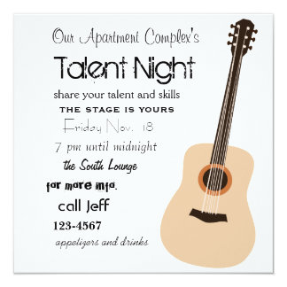 Guitar Night Card