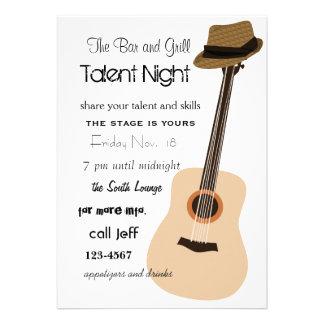 Guitar Night Invites