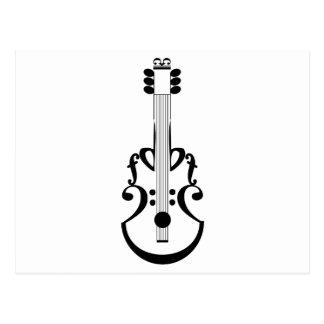 Guitar notation postcard