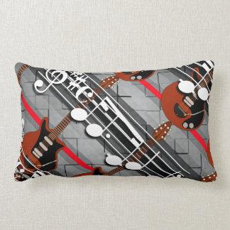 Guitar Notes Lumbar Pillow