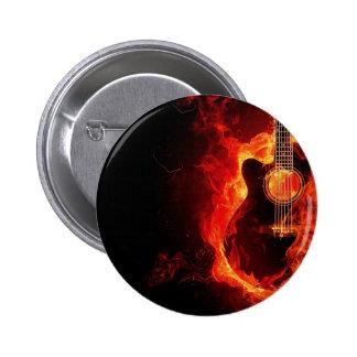 Guitar on fire button