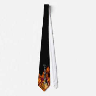guitar on fire tie