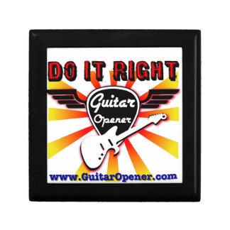 Guitar Opener - Do it right Keepsake Box