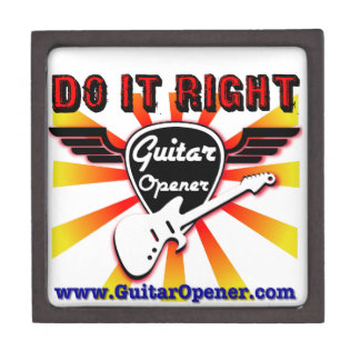 Guitar Opener - Do it right Premium Jewelry Box