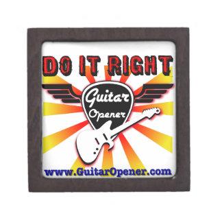 Guitar Opener - Do it right Premium Keepsake Boxes