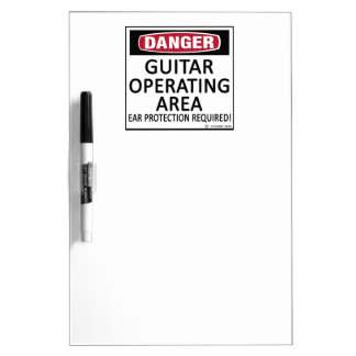 Guitar Operating Area Dry-Erase Whiteboards