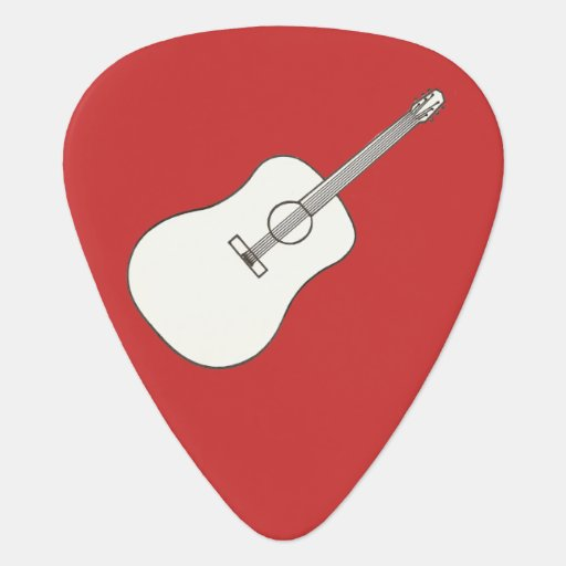 Guitar Outline Drawing Guitar Pick | Zazzle