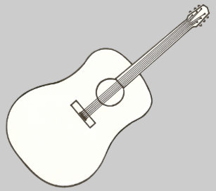 Guitar Outline Gifts On Zazzle