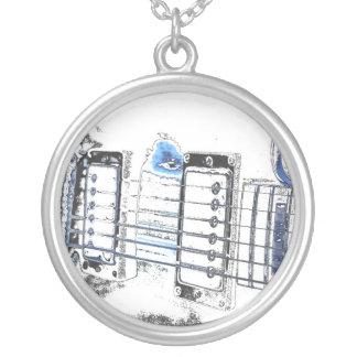guitar outline image blue black bridge strings.jpg custom jewelry