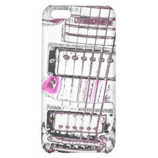 guitar outline image pink black bridge iPhone 5C cover