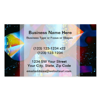 Guitar outline spraypainting pyramids instruments business card