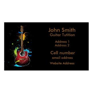 Guitar Paint Splat Business cards