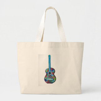 Guitar Painting by Manjiri Kanvinde Large Tote Bag