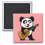 Guitar Panda 2 Inch Square Magnet