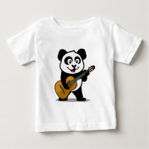 Guitar Panda Baby T-Shirt