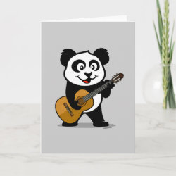Standard Card with Guitar Panda design