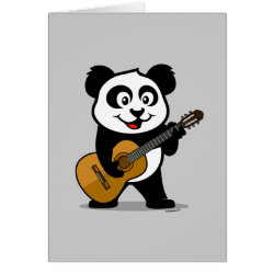 Greeting Card with Guitar Panda design