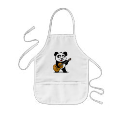 Kid's Apron with Guitar Panda design