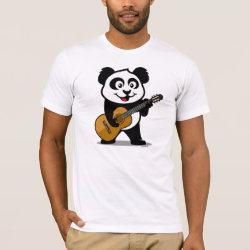 Men's Basic American Apparel T-Shirt with Guitar Panda design