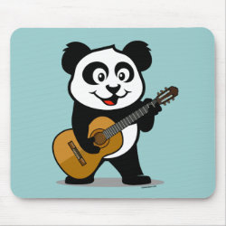 Mousepad with Guitar Panda design