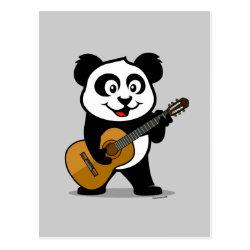 Postcard with Guitar Panda design