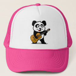 Trucker Hat with Guitar Panda design